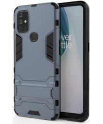 OnePlus Nord N10 Hoesje Shock Proof Back Cover Met Kickstand Blauw