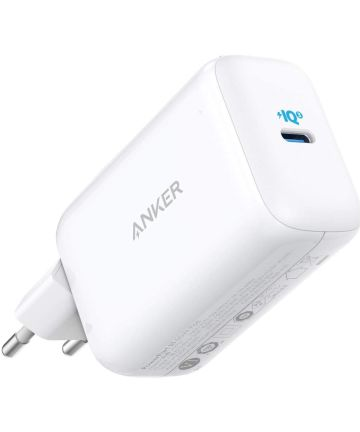 Anker PowerPort III Pod 65W USB-C Snellader met Travel Kit Wit Opladers