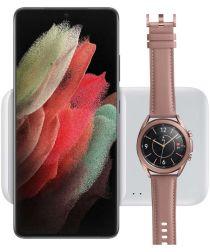 Originele Samsung Wireless Charger Duo + Adapter Telefoon/Watch Wit