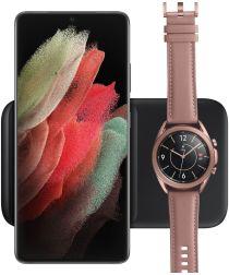Originele Samsung Wireless Charger Duo Pad Smartphone/Buds/Watch Zwart
