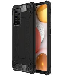 Samsung Galaxy A52 Hoesje Shock Proof Hybride Back Cover Zwart
