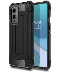 OnePlus 9 Hoesje Shock Proof Hybride Back Cover Zwart
