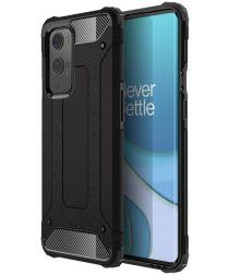 OnePlus 9 Pro Hoesje Shock Proof Hybride Back Cover Zwart