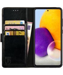 Rosso Element Samsung Galaxy A72 Hoesje Book Case Zwart