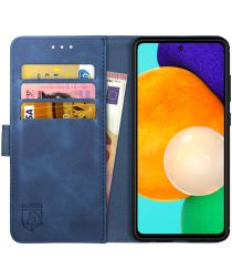 Rosso Element Samsung Galaxy A52 Hoesje Bookcover Wallet Blauw