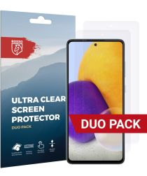 Rosso Samsung Galaxy A72 Ultra Clear Screen Protector Duo Pack