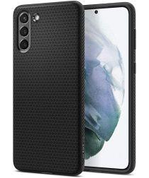 Spigen Liquid Air Samsung Galaxy S21 Hoesje Zwart