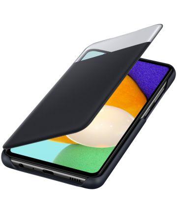 Origineel Samsung Galaxy A52 Hoesje S-View Wallet Cover Zwart Hoesjes