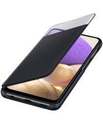 Origineel Samsung Galaxy A32 Hoesje S-View Wallet Case Cover Zwart