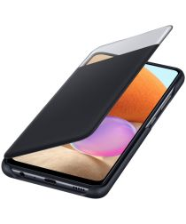 Origineel Samsung Galaxy A32 4G Hoesje S-View Wallet Cover Zwart