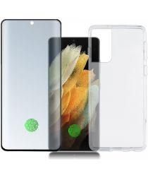 4smarts 360° Premium Protection Set Samsung Galaxy S21 Ultra Zwart
