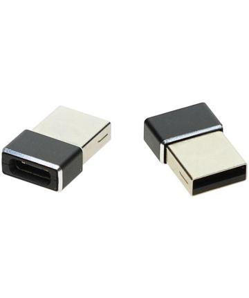 4smarts USB-A naar USB-C Converter/Adapter Zwart Kabels