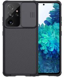 Nillkin CamShield Samsung Galaxy S21 Ultra Hoesje Camera Slider Zwart