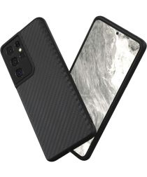 RhinoShield SolidSuit Samsung Galaxy S21 Ultra Hoesje Carbon Fiber