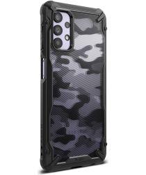 Ringke Fusion X Samsung Galaxy A32 5G Hoesje Camo Zwart