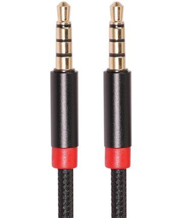 3.5mm Jack naar 3.5mm Jack Stereo Gevlochten Aux Kabel Zwart 1 Meter Kabels