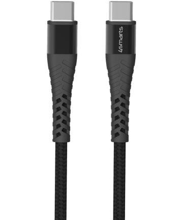 4smarts PremiumCord USB-C naar USB-C Kabel Zwart Grijs 25CM Kabels