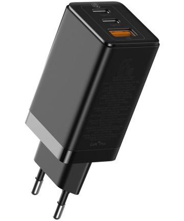 Baseus GaN2 Pro Snellader 65W met PD + USB-C Kabel 1M Zwart Opladers
