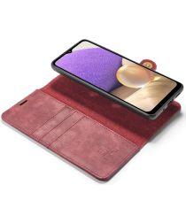 Samsung Galaxy A32 5G Hoesje 2-in-1 Book Case en Back Cover Rood