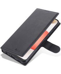 AZNS Samsung Galaxy A72 Hoesje Book Case Kunst Leer Zwart