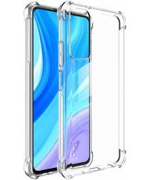 IMAK Huawei P Smart 2021 Hoesje TPU met Screen Protector Transparant
