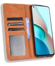 Xiaomi Redmi Note 9T Portemonnee Hoesje Vintage Look Kunst Leer Bruin