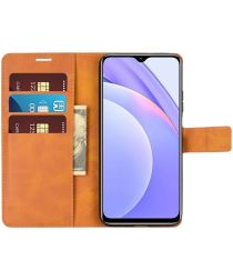 Xiaomi Redmi 9T Hoesje Portemonnee Book Case Oranje