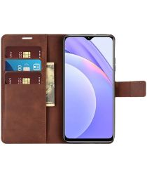 Xiaomi Redmi 9T Hoesje Portemonnee Book Case Bruin
