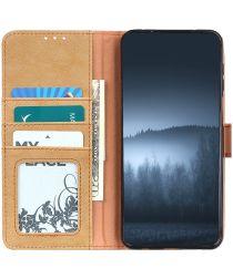 Xiaomi Redmi Note 9T Hoesje Retro Wallet Book Case Khaki