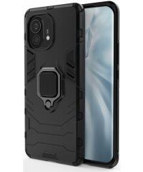 Xiaomi Mi 11 Hoesje met Kickstand Ring Houder Zwart
