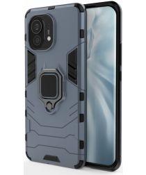 Xiaomi Mi 11 Hoesje met Kickstand Ring Houder Blauw