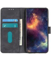 Xiaomi Redmi Note 9T Hoesje Vintage Wallet Book Case Zwart