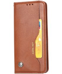 Xiaomi Mi 11 Hoesje Book Case Portemonnee met Kaartsleuf Bruin