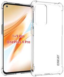 OnePlus 9 Pro Hoesje Schokbestendig en Dun TPU Back Cover Transparant