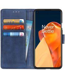 OnePlus 9 Hoesje met Pasjes Book Case Portemonnee Blauw