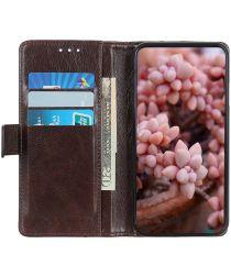 Nokia 5.4 Hoesje Wallet Book Case met Pasjes Coffee