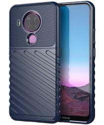 Nokia 5.4 Thunder Series Hoesje Back Cover TPU Blauw