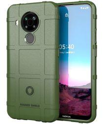Nokia 5.4 Hoesje Shock Proof Rugged Shield Back Cover Groen