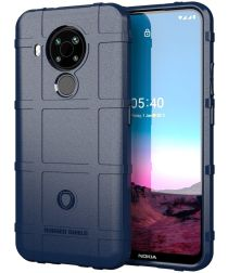 Nokia 5.4 Hoesje Shock Proof Rugged Shield Back Cover Blauw