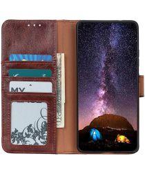 Nokia 5.4 Hoesje Wallet Book Case Kunstleer Bruin