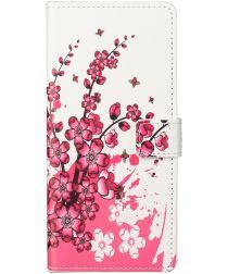 Nokia 5.4 Hoesje Portemonnee Book Case met Print Bloem