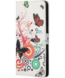 Nokia 5.4 Hoesje Portemonnee Book Case met Print Vlinder