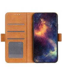 Nokia 5.4 Hoesje Portemonnee Book Case met Stand Geel