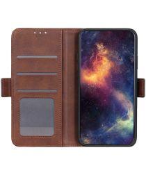 Nokia 5.4 Hoesje Portemonnee Book Case met Stand Bruin