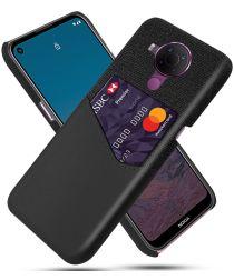 Nokia 5.4 Hoesje met Kaartsleuf Back Cover Zwart