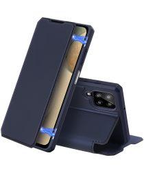 Dux Ducis Skin X Series Samsung Galaxy A12 Hoesje Book Case Blauw