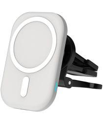 Ventilatierooster/Dashboard Telefoon Houder voor MagSafe 15W Wit