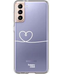 HappyCase Samsung S21 Plus Hoesje Flexibel TPU Hartje Print