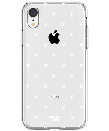 HappyCase Apple iPhone XR Hoesje Flexibel TPU Hartjes Print Hoesjes