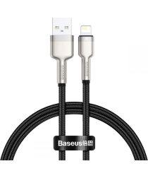 Baseus Cafule Series USB-A naar Lightning Kabel 25cm Metaal Zwart
